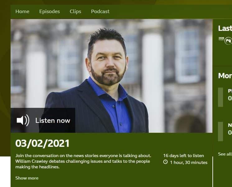 William Crawley from BBC Talkback on Radio Ulster