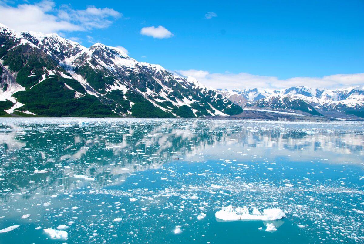 glacier snow landscape mountains