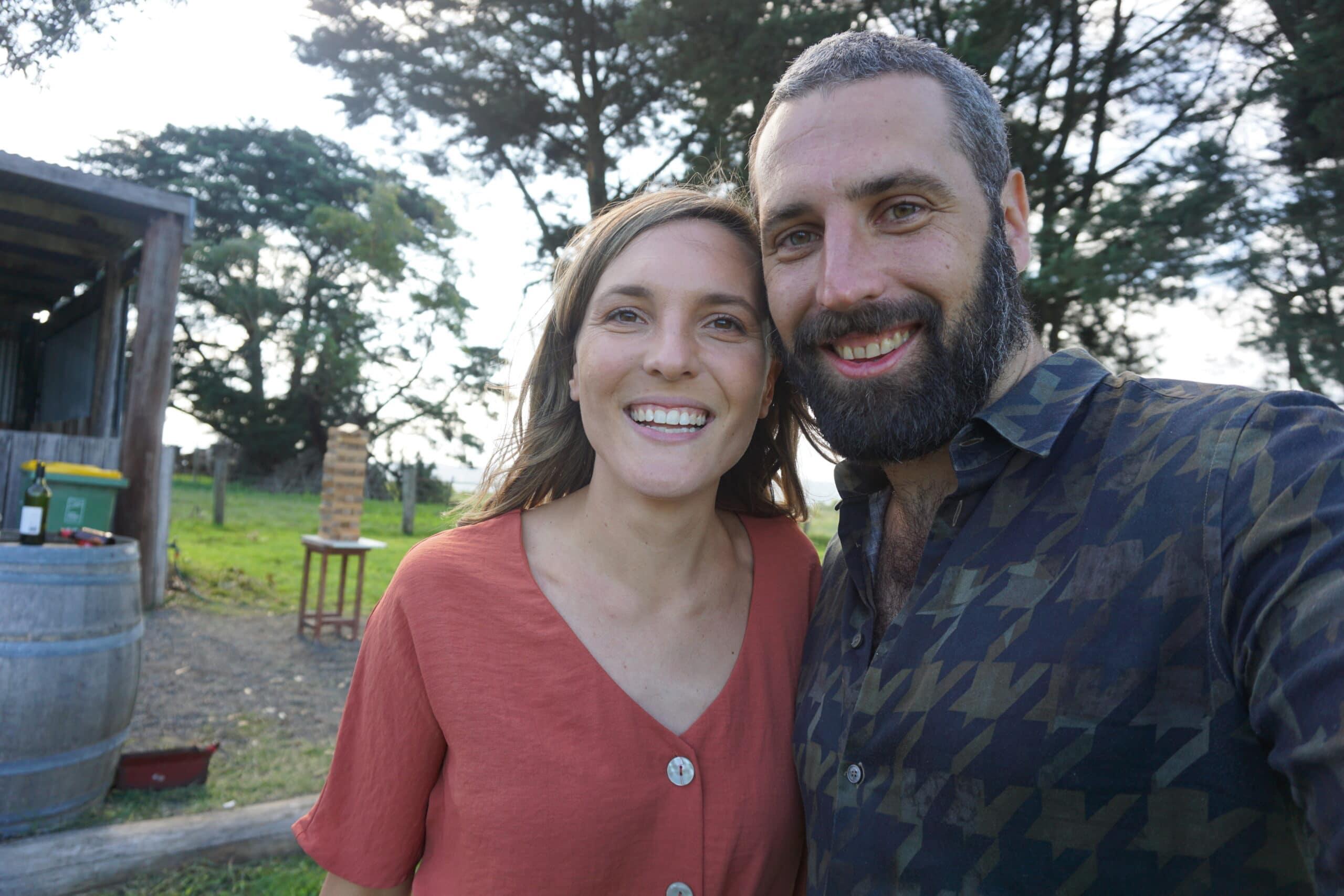 Michael and sister Joanna