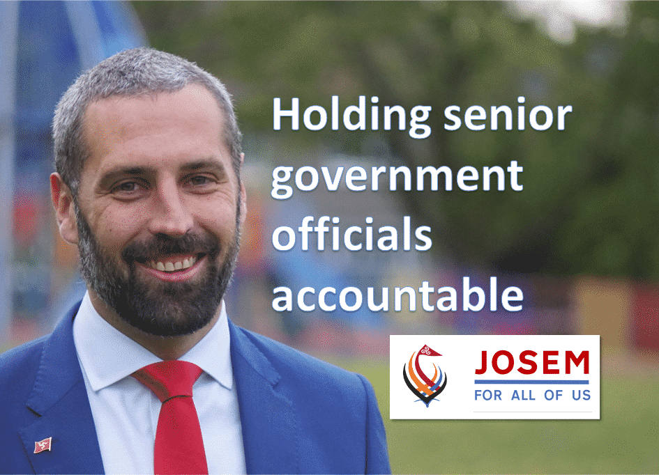 Holding senior government officials accountable