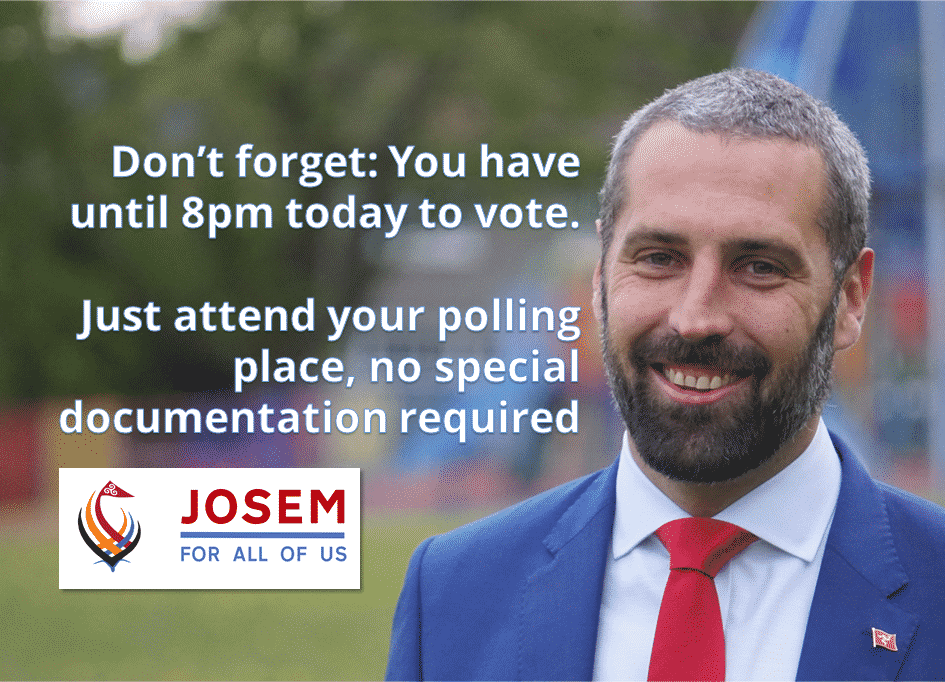 Polls are open until 8pm today